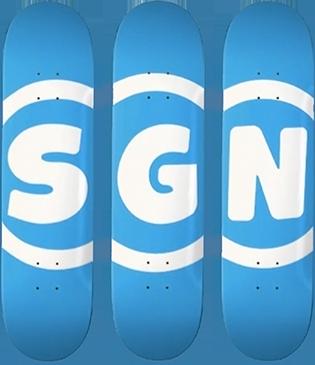 SGN Skateboard Logo